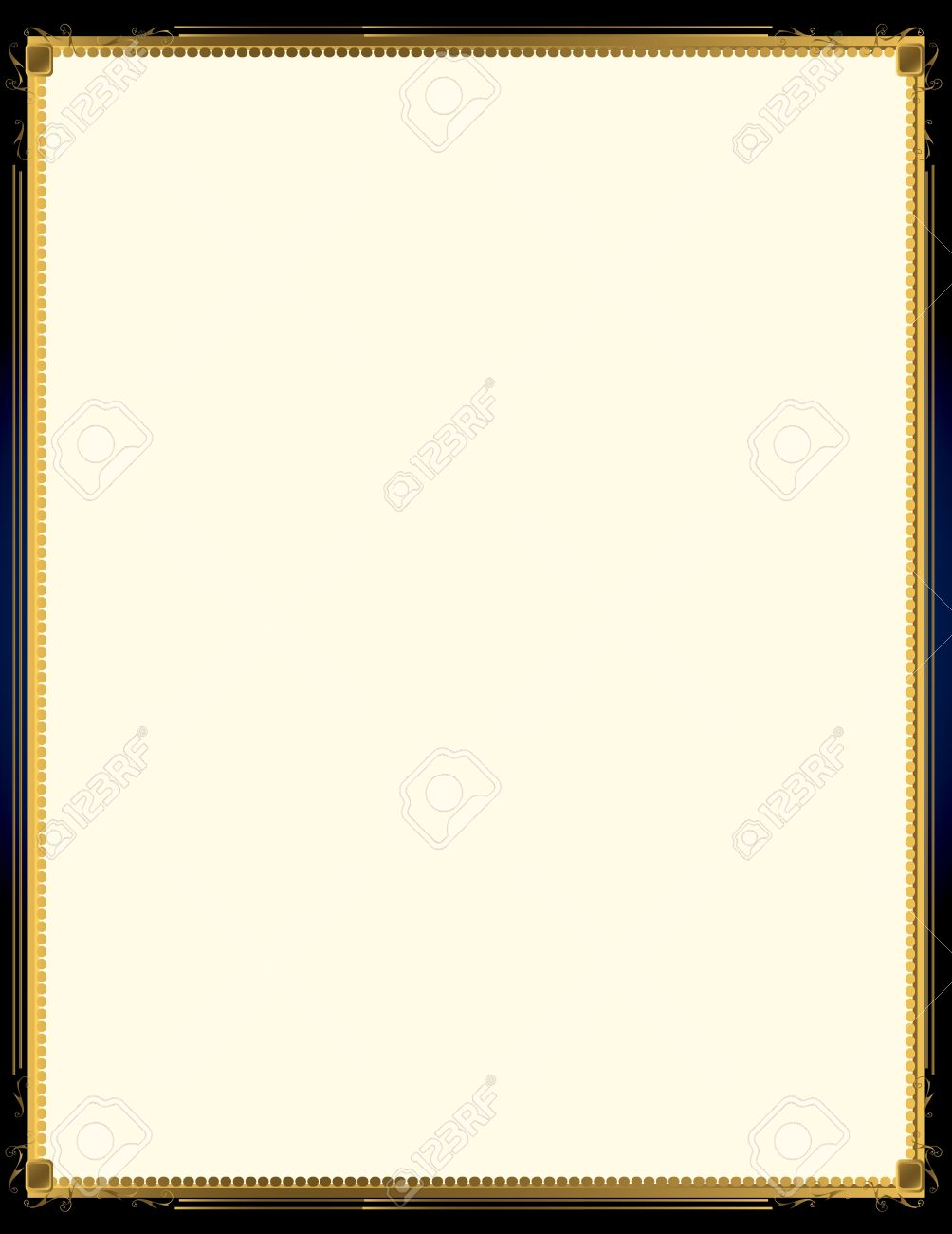 A blue background with and elegant blank frame design Stock Vector - 7315138