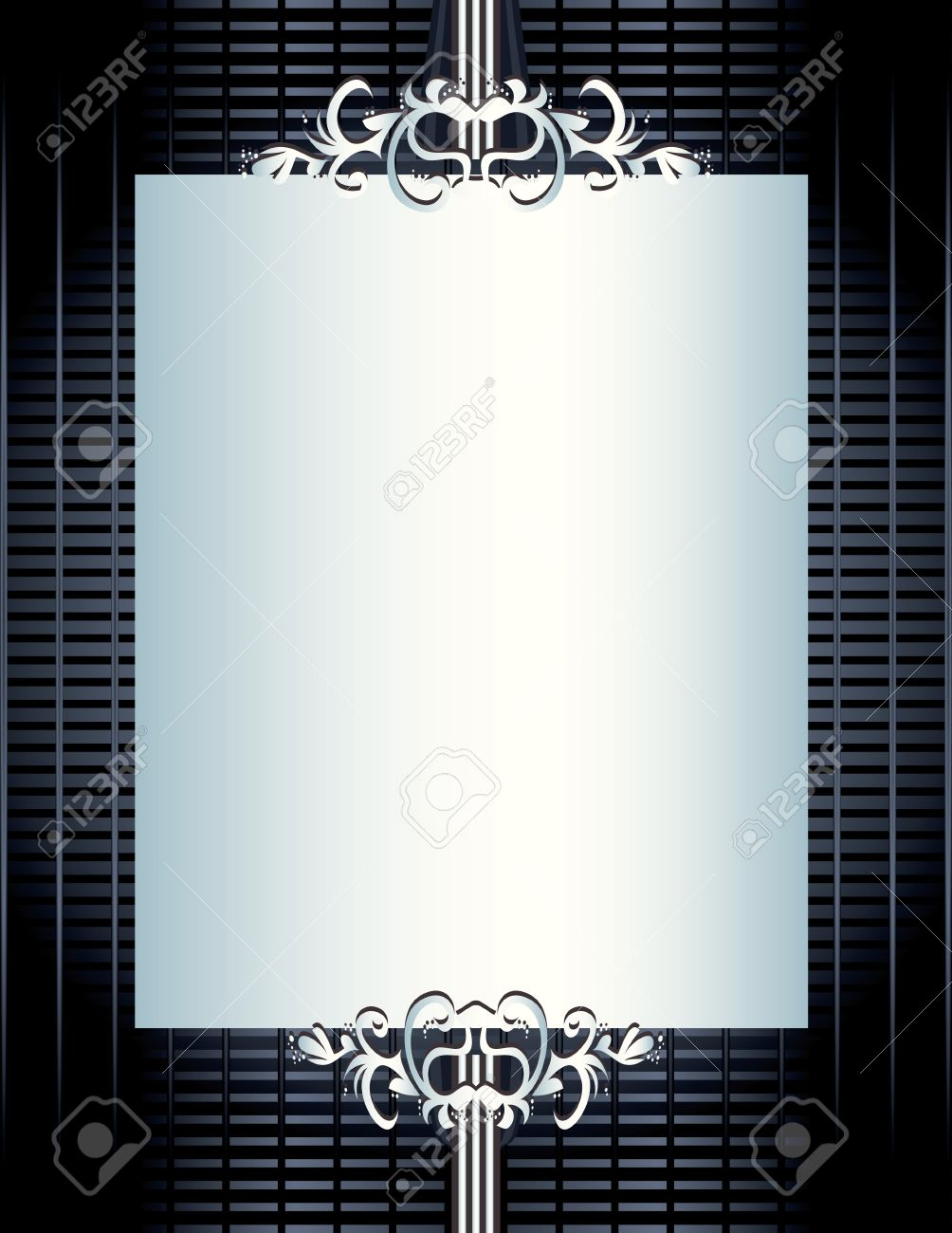 A blue background with and elegant blank frame design Stock Vector - 7315145