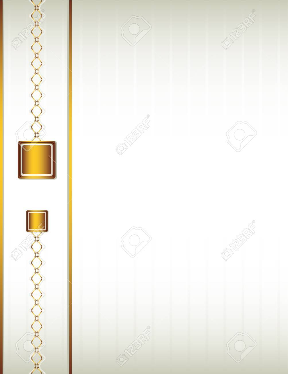 Cream background with a gold design including chain-like elements Stock Vector - 7315159