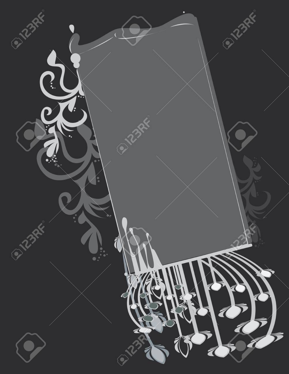 Gray abstract frame and background Stock Vector - 7315120