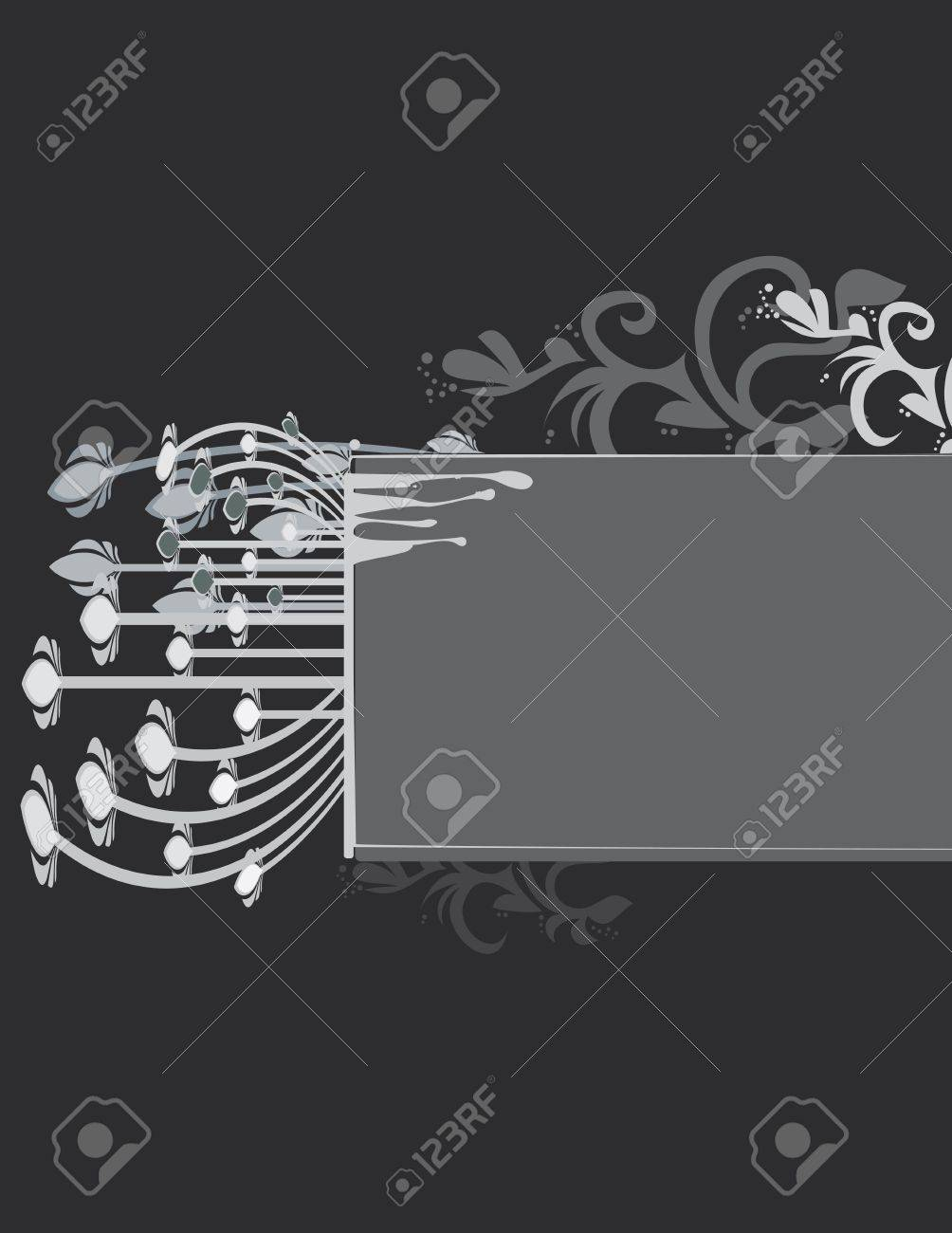 Gray abstract frame and background Stock Vector - 7315119