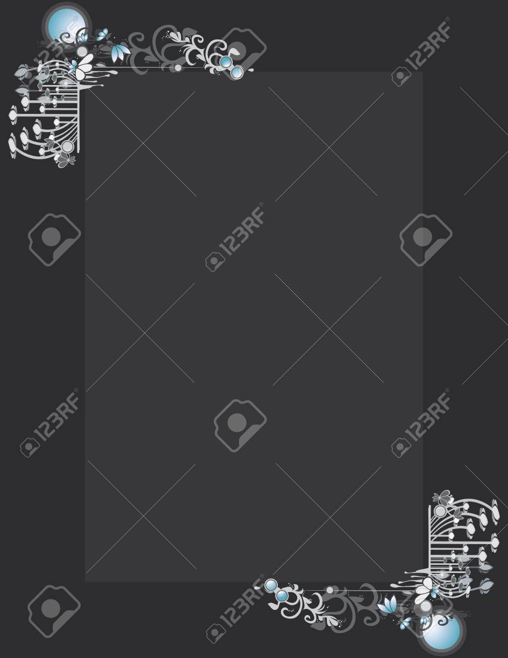 Gray blue abstract frame and background Stock Vector - 7315140