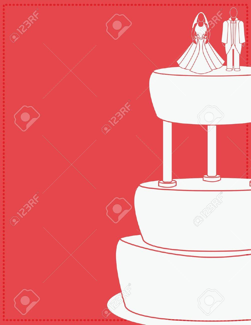 Wedding background for a couple on a cake Stock Vector - 7315125