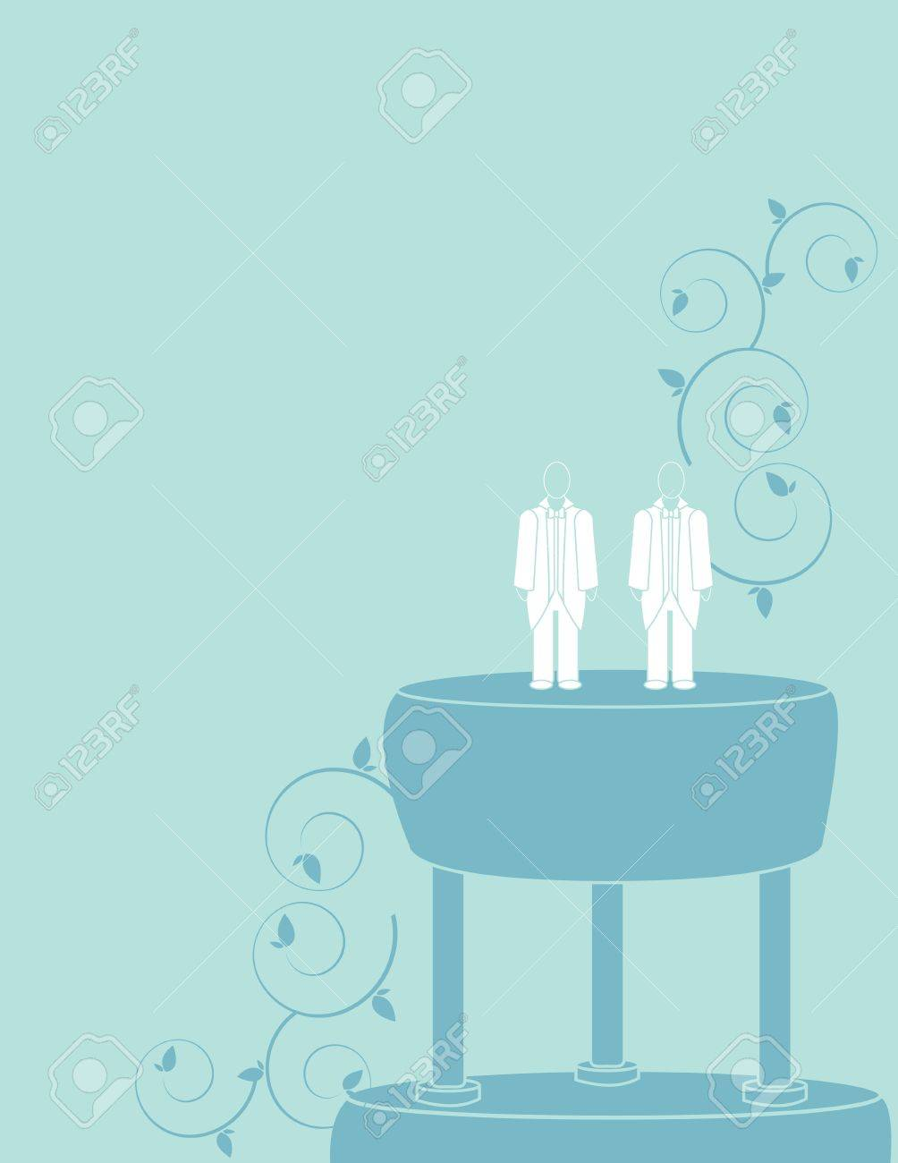 Wedding background for a male couple in suits Stock Vector - 7315106