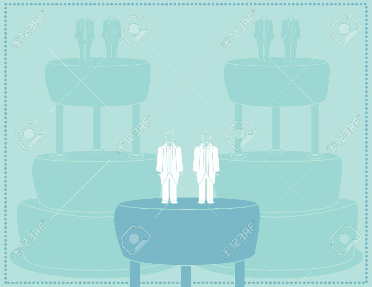 Wedding background for a male couple in suits Stock Vector - 7315131