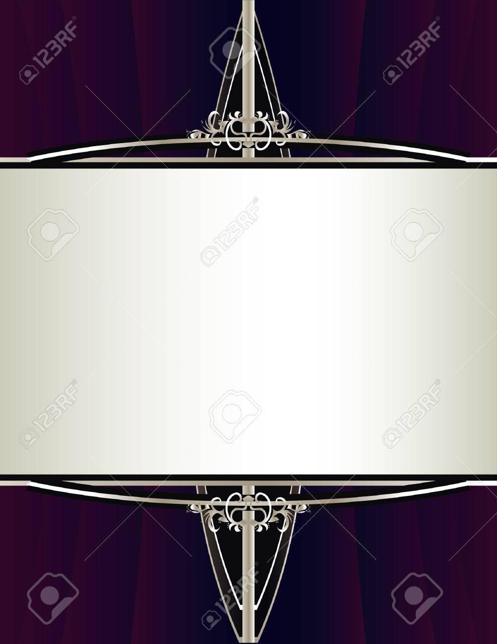 Un Fondo De Color Púrpura Reunido Con Un Diseño Elegante Encuadre De ...