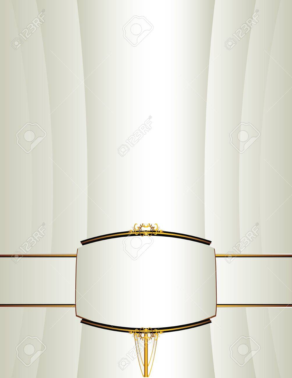 Background with a gold and black frame and band on lower portion Stock Vector - 7315153