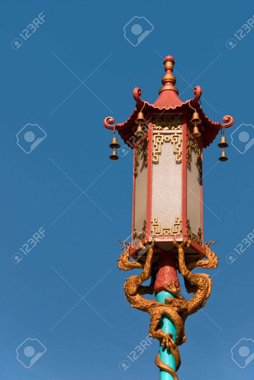 Street Lamp In Chinatown Located In San Francisco California Stock Photo 3014502