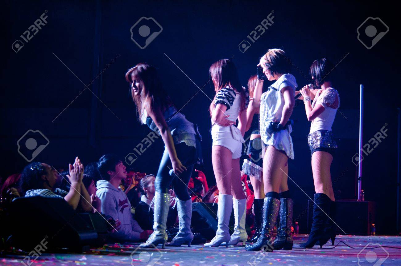 LINCOLN, CA - February 24: K-Pop group Blush  performs at Thunder Valley Casino Resort in Lincoln, California on February 24, 2012 Stock Photo - 13072865