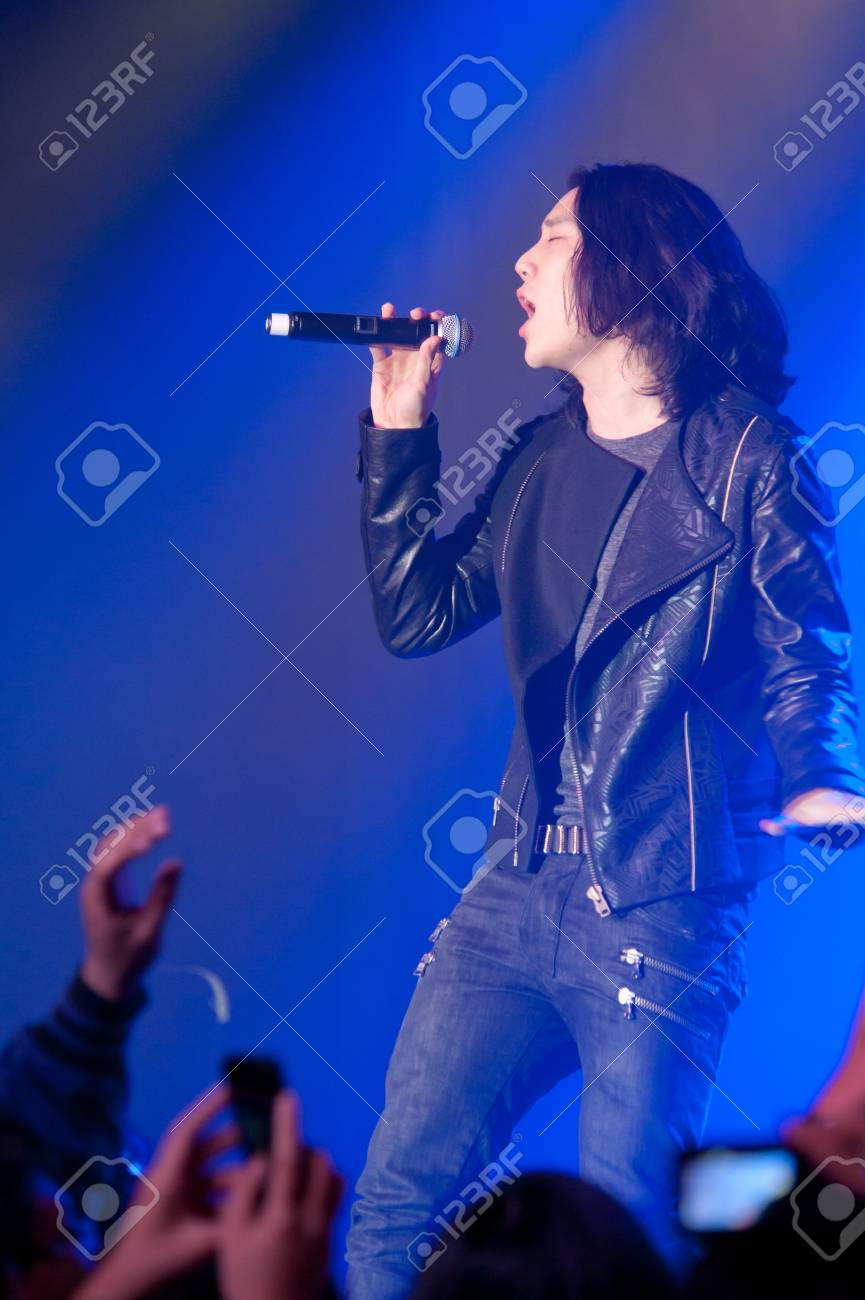 LINCOLN, CA - February 24: Eddie Shin with Aziatix performs at Thunder Valley Casino Resort in Lincoln, California on February 24, 2012 Stock Photo - 13072788