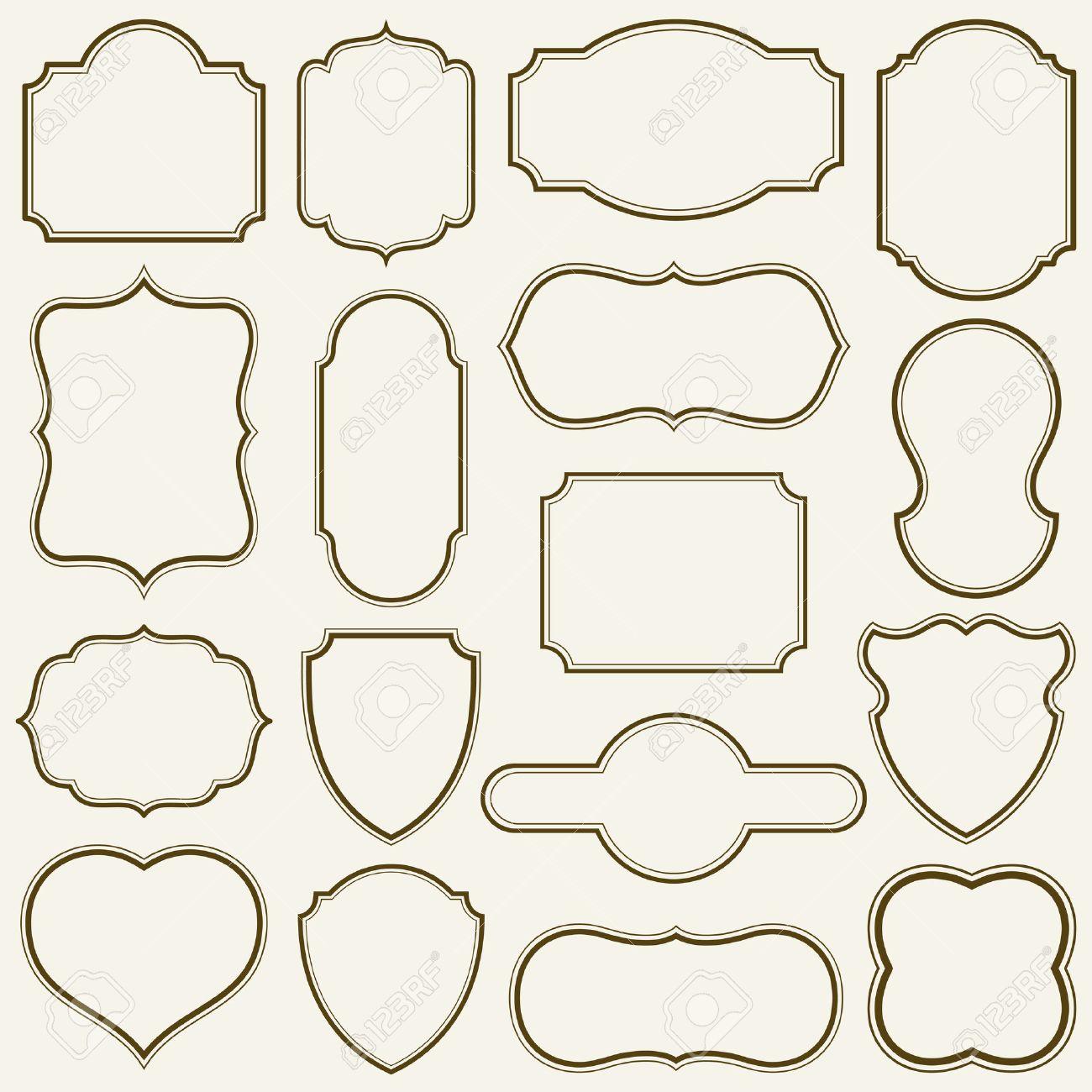 Conjunto De Bastidores Simples Ilustración Vectorial. Ilustraciones ...