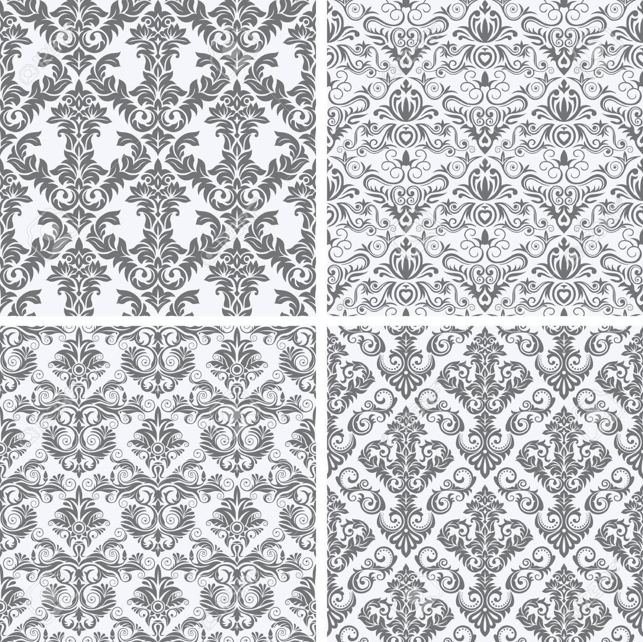Cuatro Ilustración Vectorial Patrones De Repetición Sin Fisuras ...