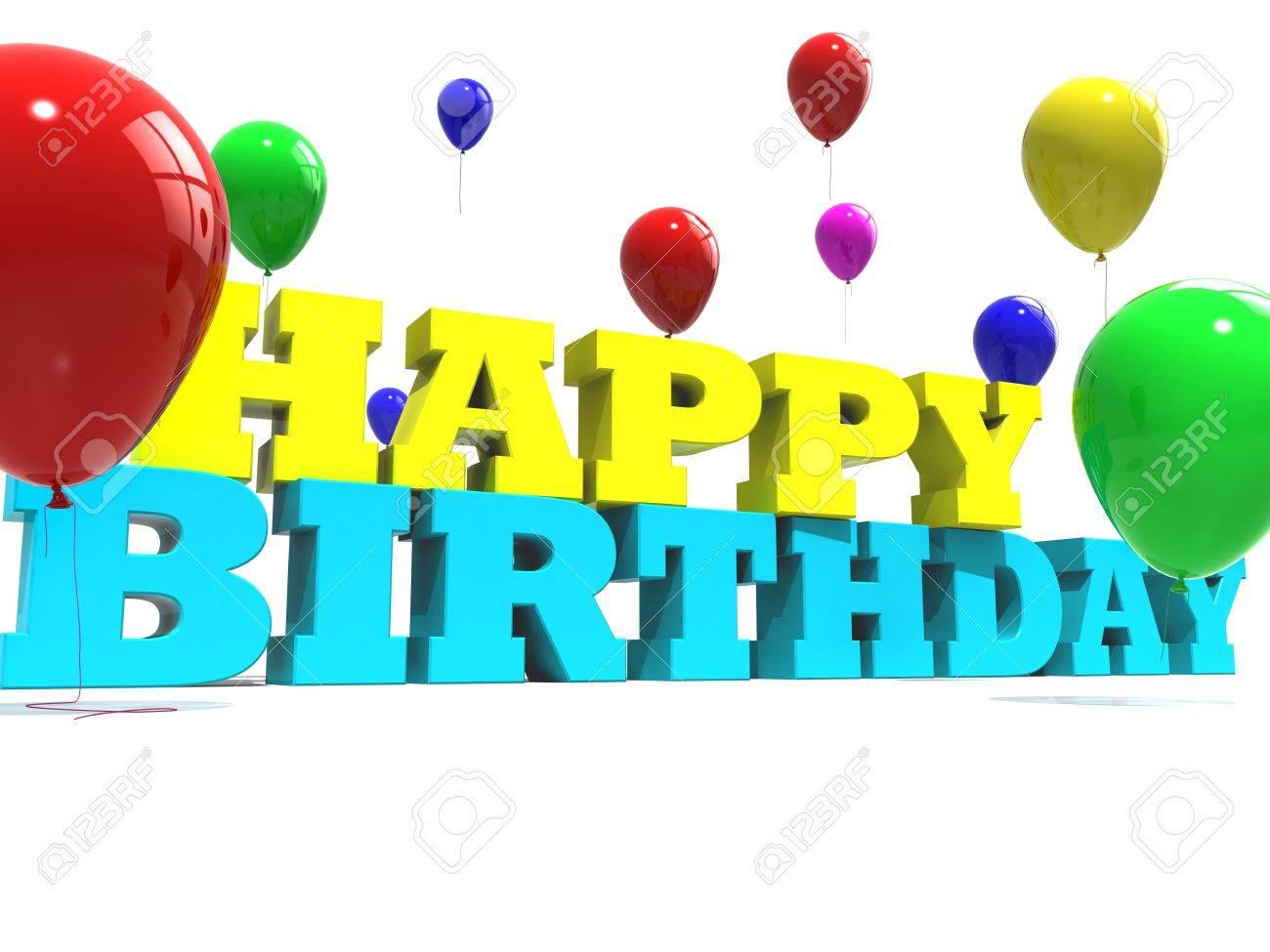 Happy birthday sign Stock Photo - 8766757