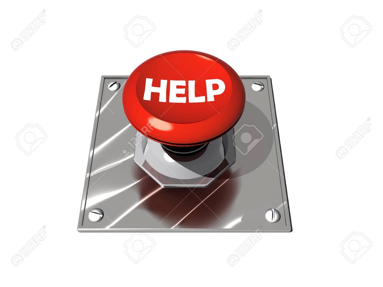 Help button illustration Stock Photo - 8766750