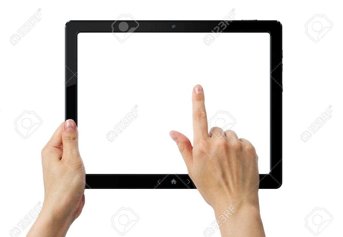 Hands holding PC tablet Stock Photo - 9970432