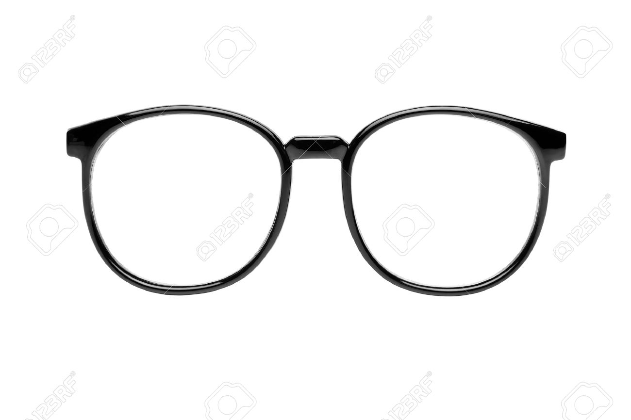59aa785ea14 black nerd glasses isolated on white Stock Photo - 9970434