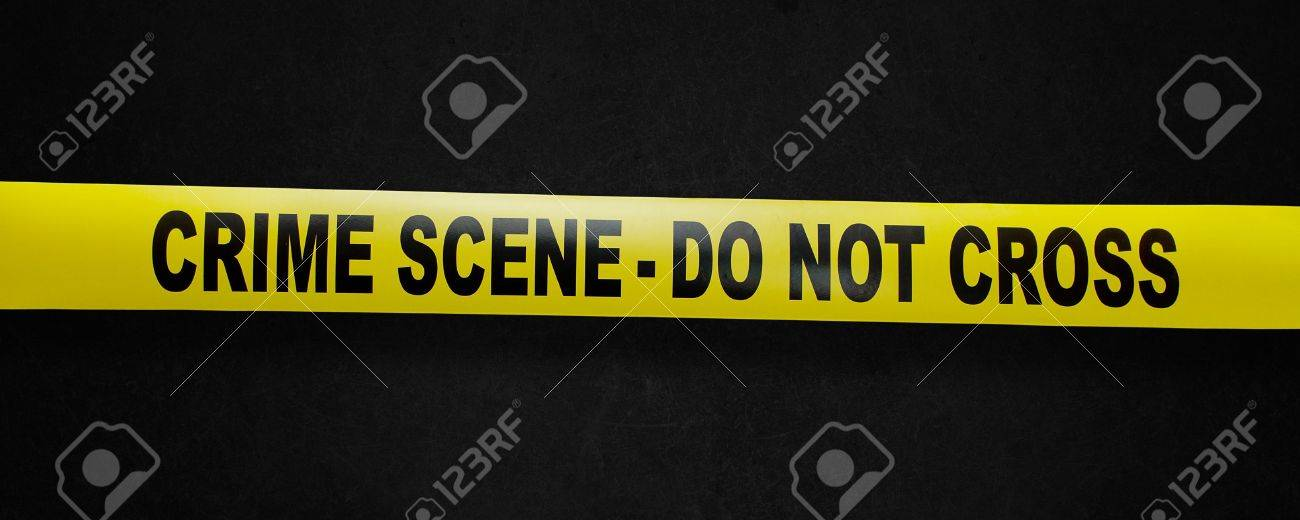 Crime scene yellow tape with clipping path so you can easy remove the background Stock Photo - 10317580