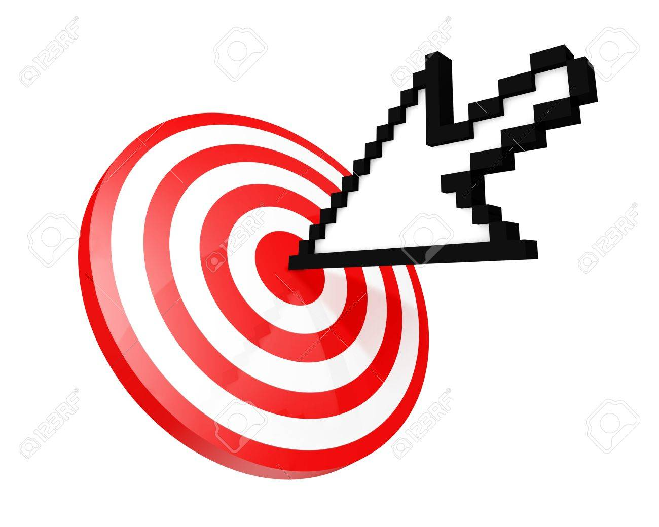 Hit the target concept Stock Photo - 10482433