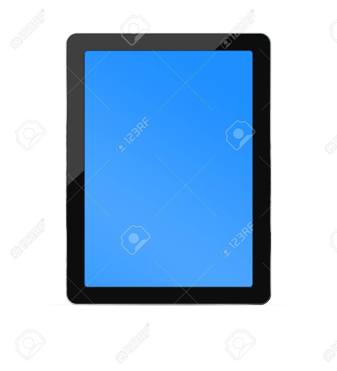 Blank PC tablet with clipping paths for the screen and the back Stock Photo - 11112161
