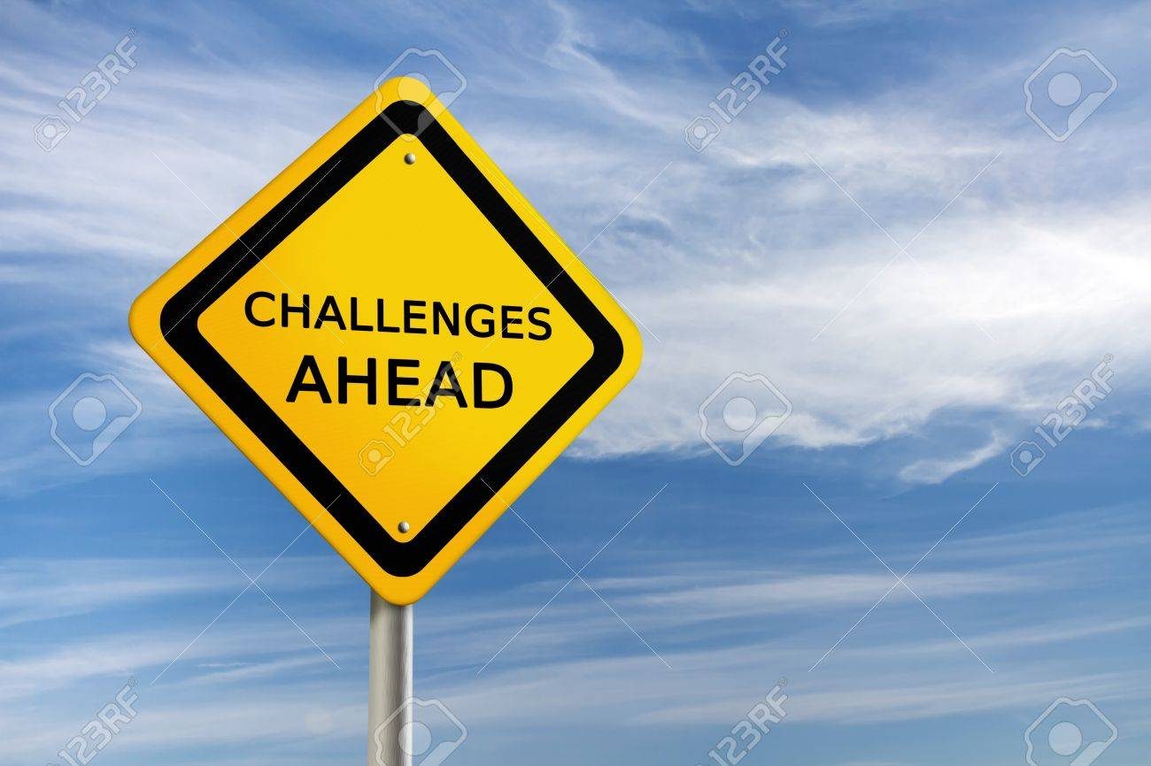 Challenges ahead road sign Stock Photo - 11326210