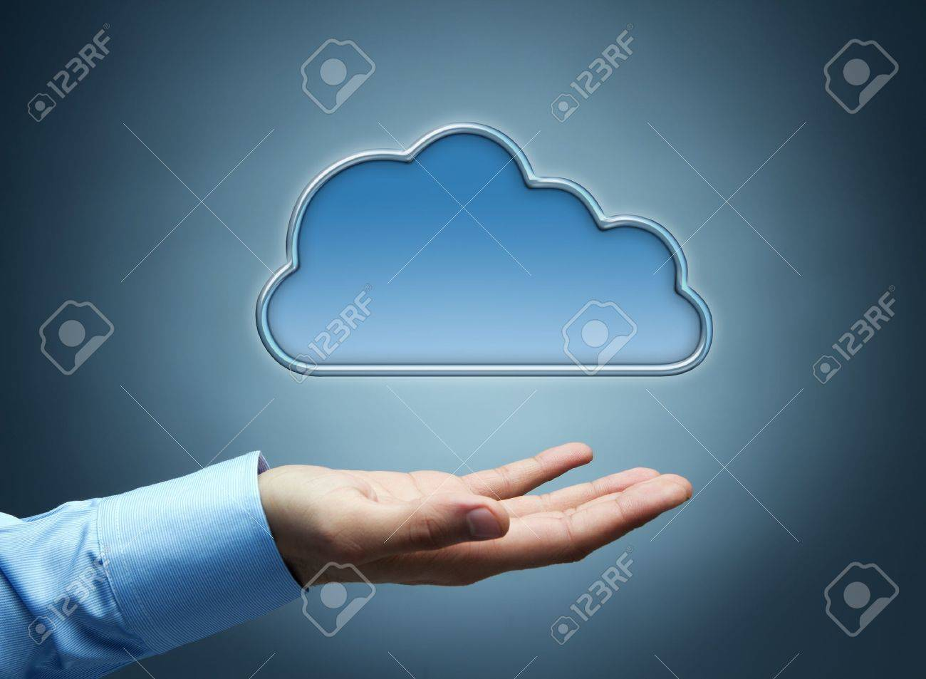 Cloud computing concept with copy space Stock Photo - 11764189