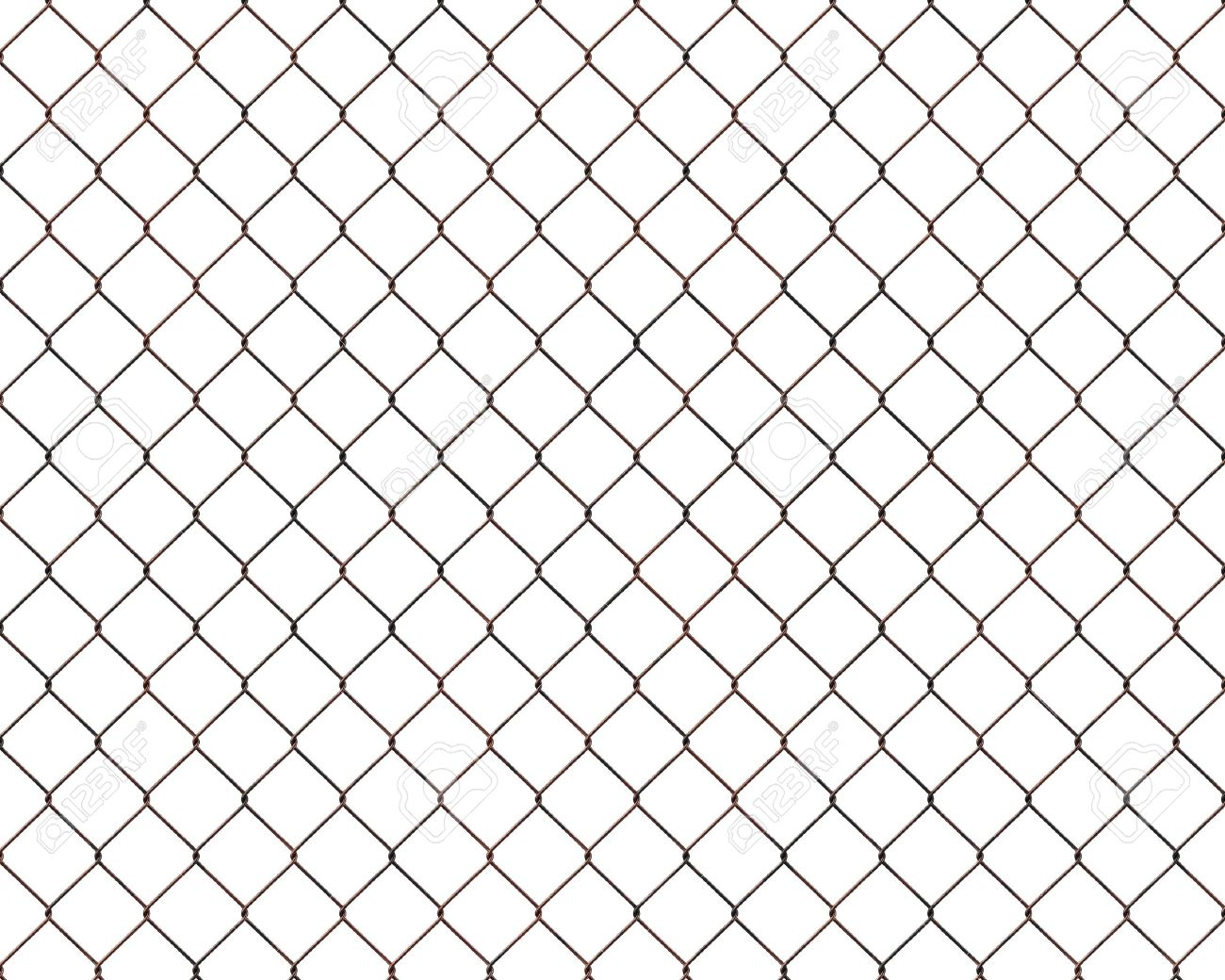 Rusty chainlink fence isolated on white background Stock Photo - 12863496
