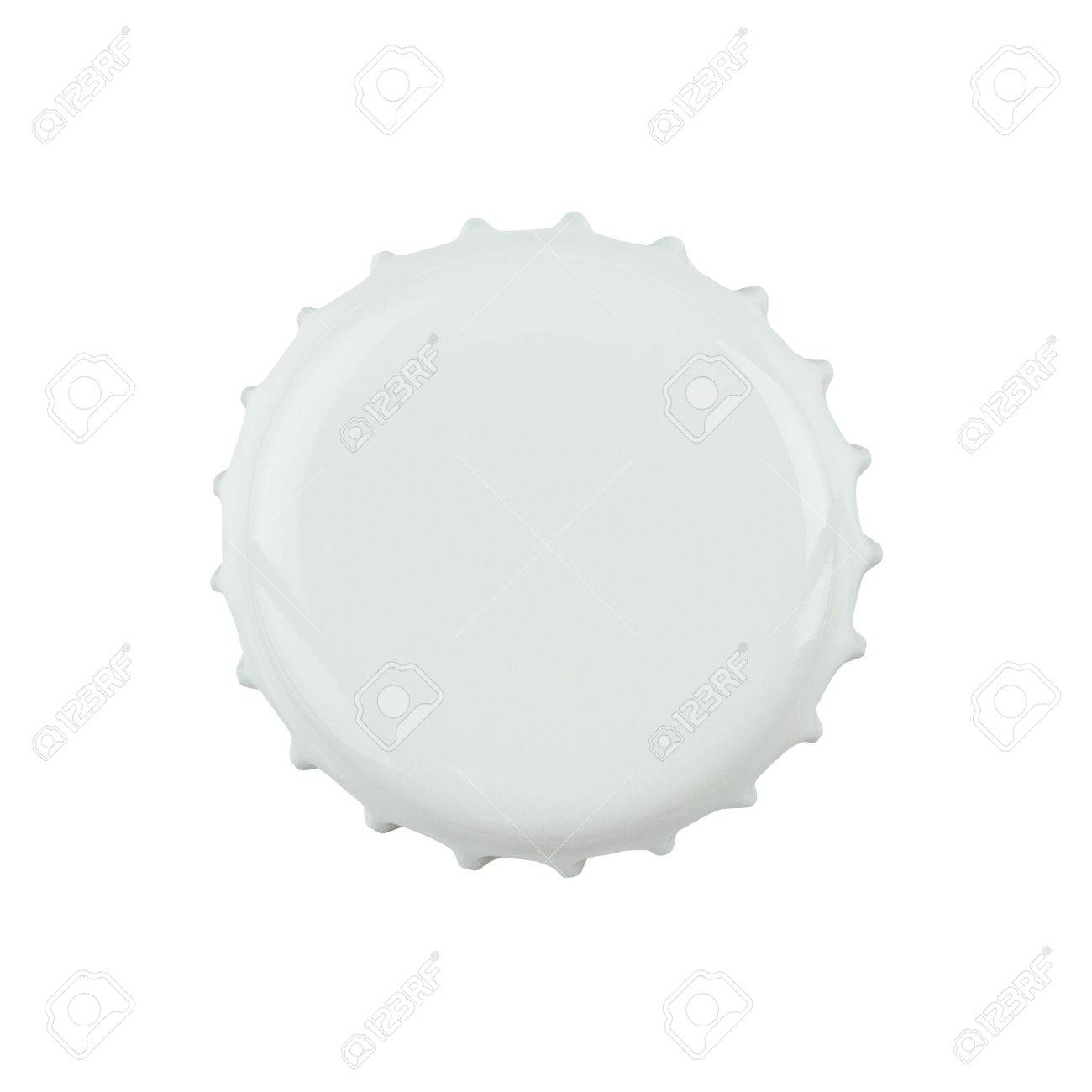 White bottle cap isolated on white background with clipping path Stock Photo - 14420715