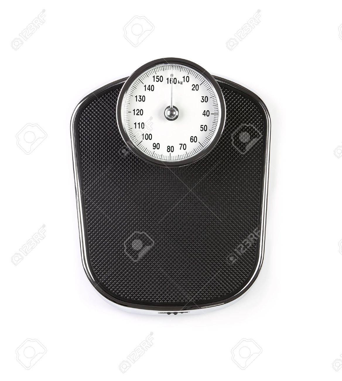 Retro weight scale isolated on white background Stock Photo - 14484932