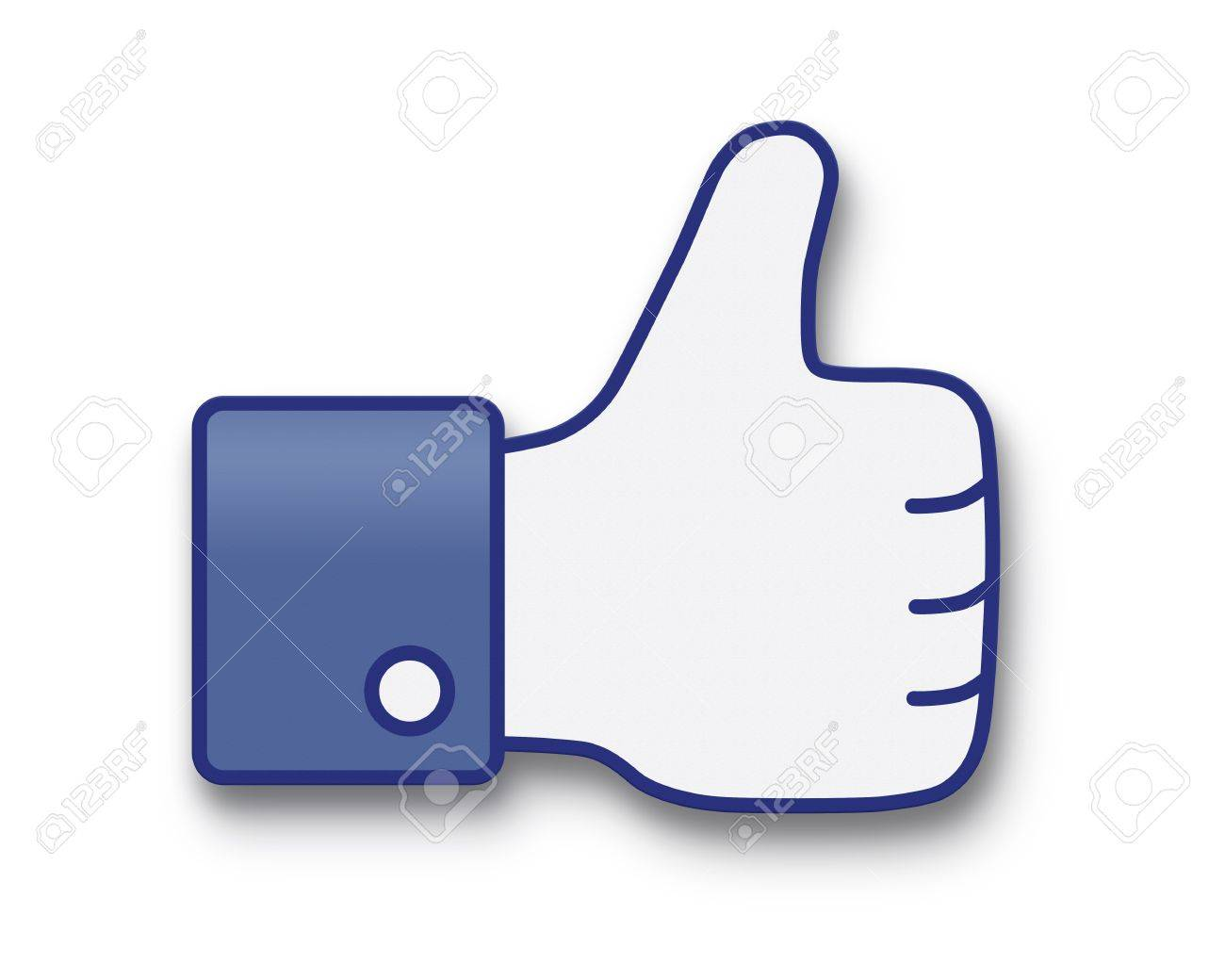 Thumbs up or like, paper icon Stock Photo - 15700352