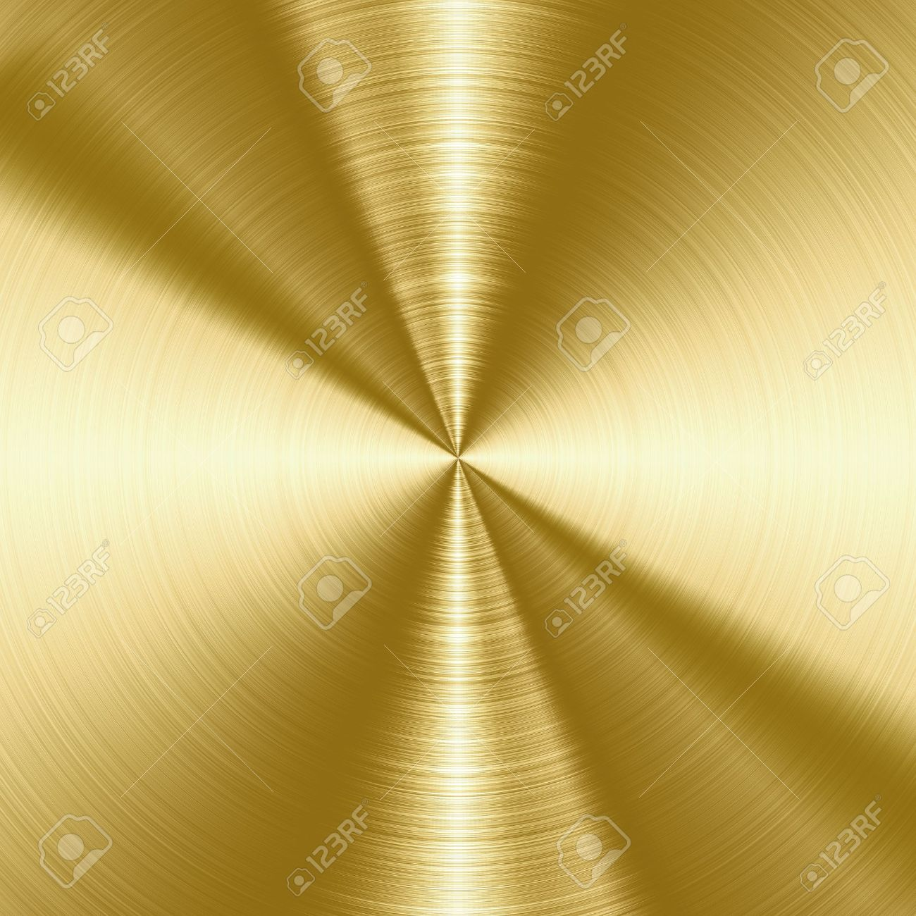 Shiny, gold brushed metal texture, background with copy space Stock Photo - 22024049