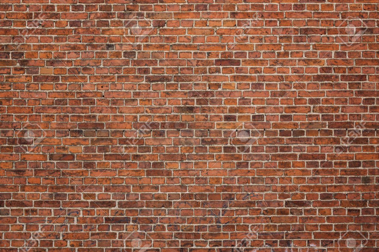 Grunge red brick wall background with copy space - 30934396