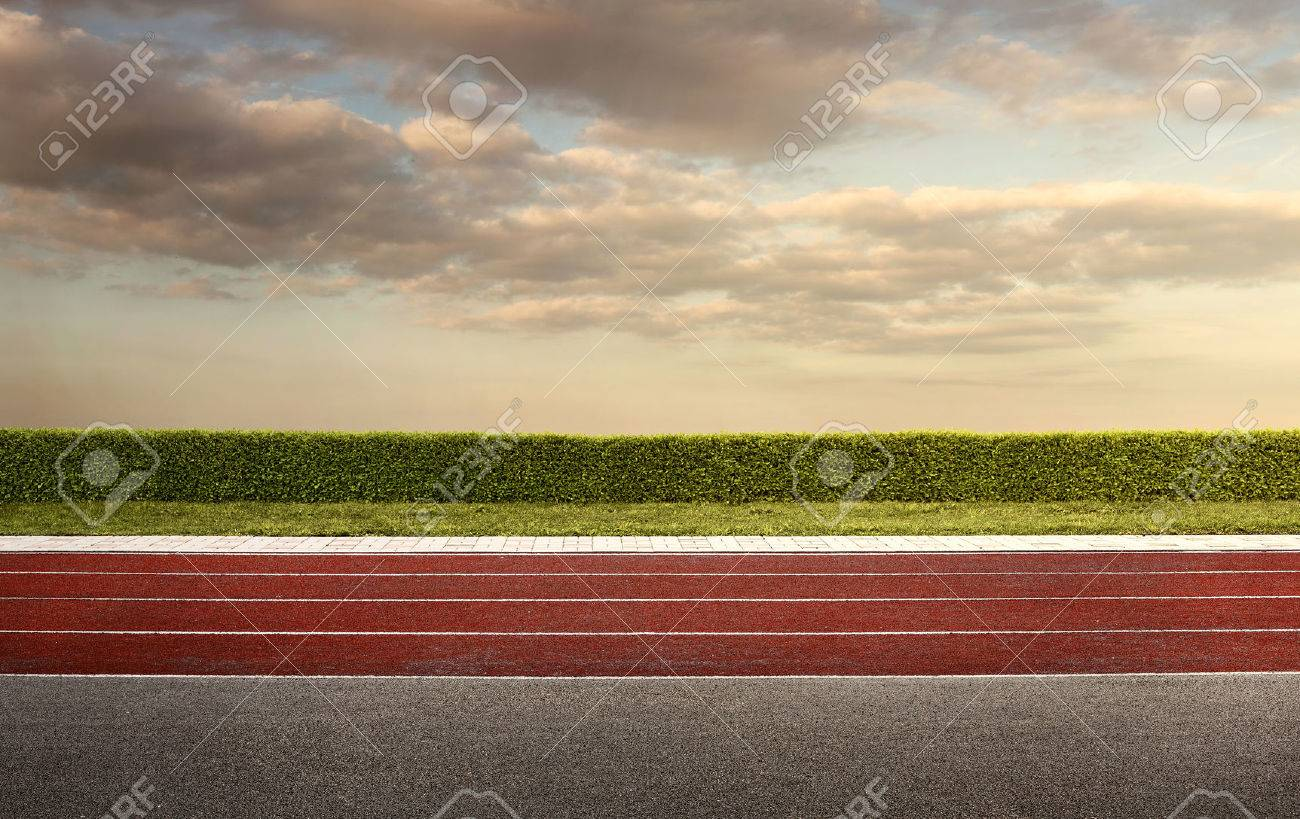 Empty running track for the background with copy space Standard-Bild - 39373620
