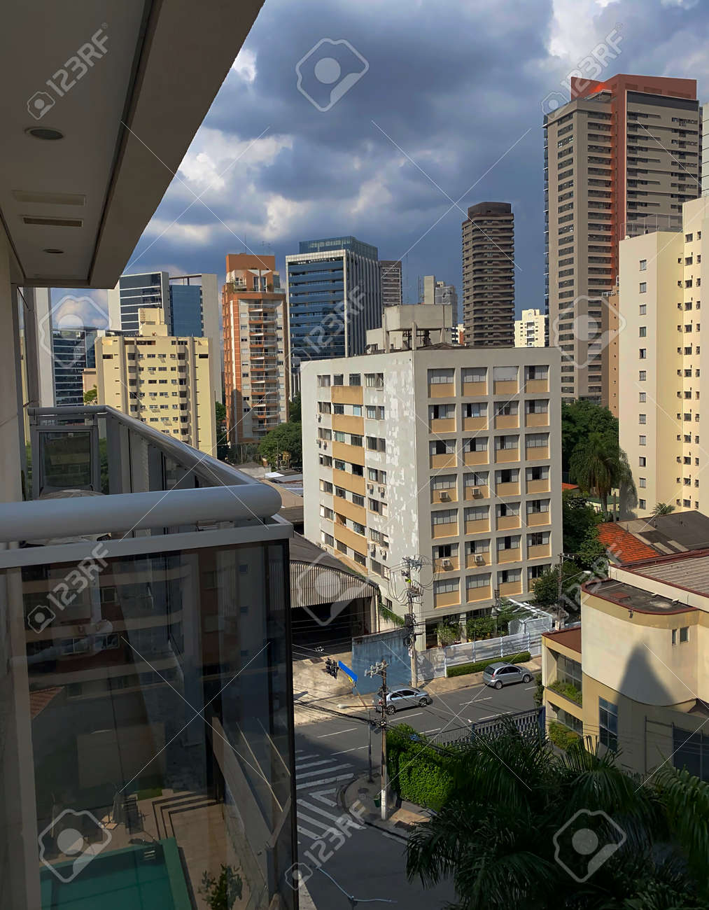 Building constructions in South America. Several different buildings. Sao Paulo city, Brazil. - 167614256