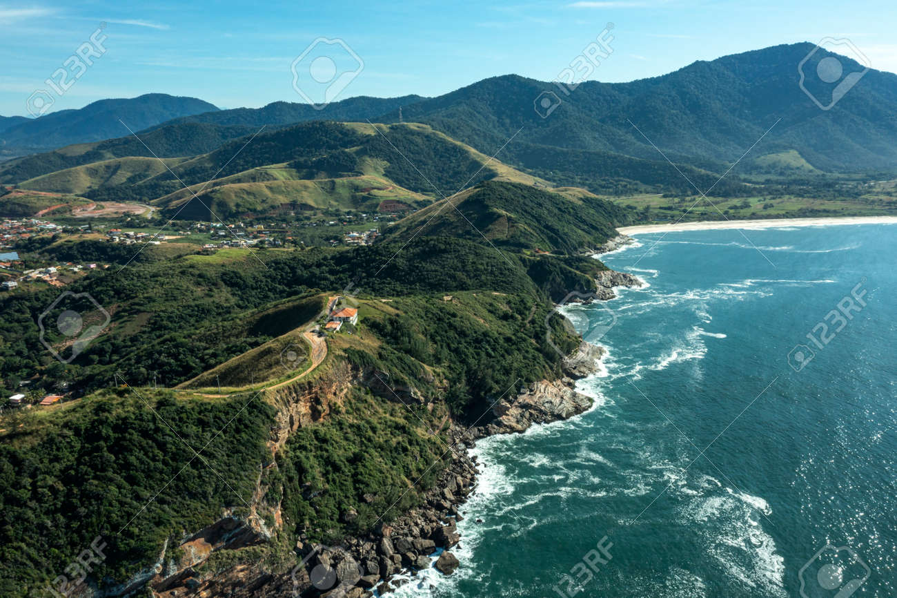 Sea and rocks. Aerial view of sea waves and fantastic Rocky coast. - 169727489