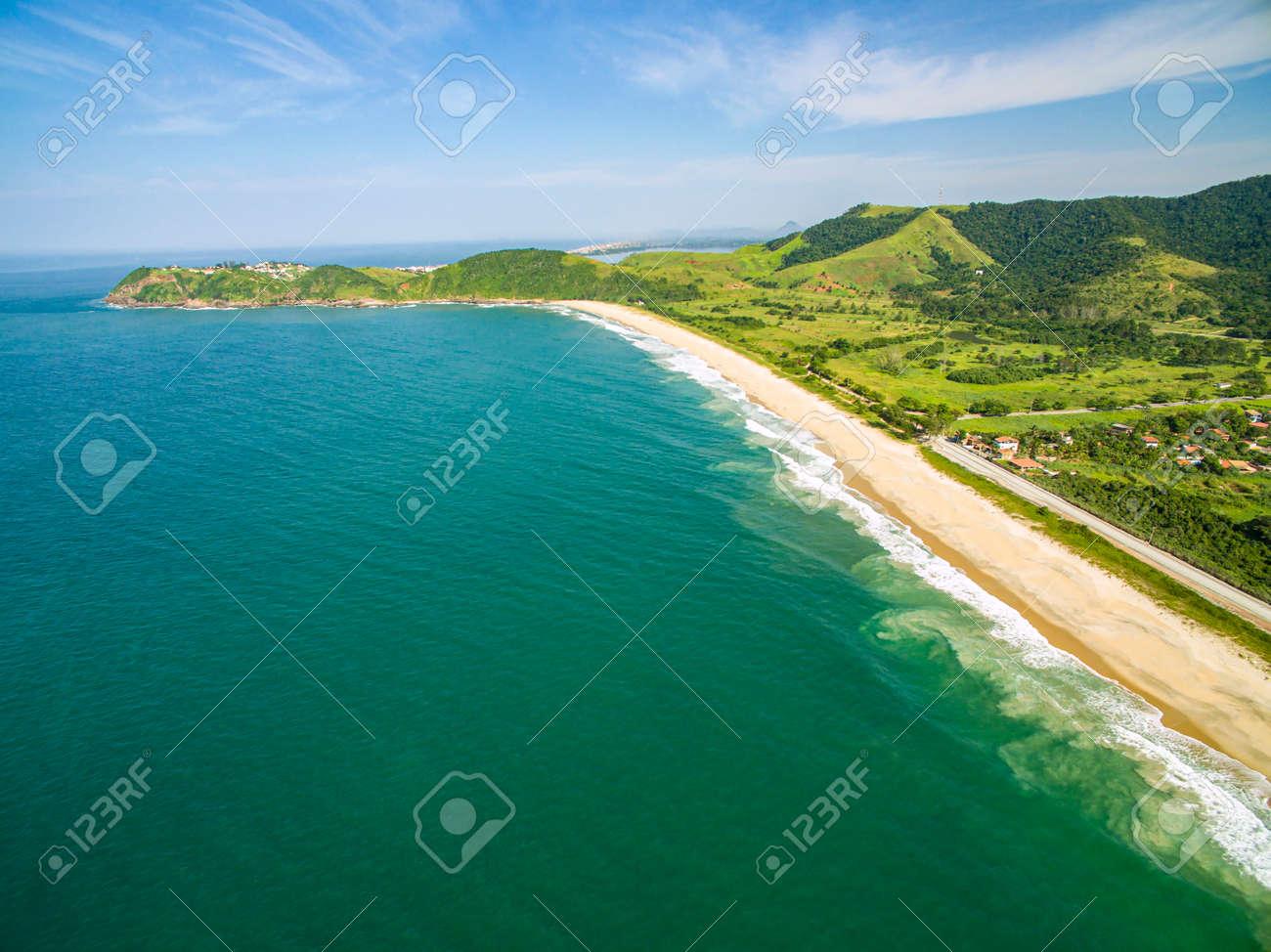 Deserted beach. Beautiful sunny coast view. - 169121462