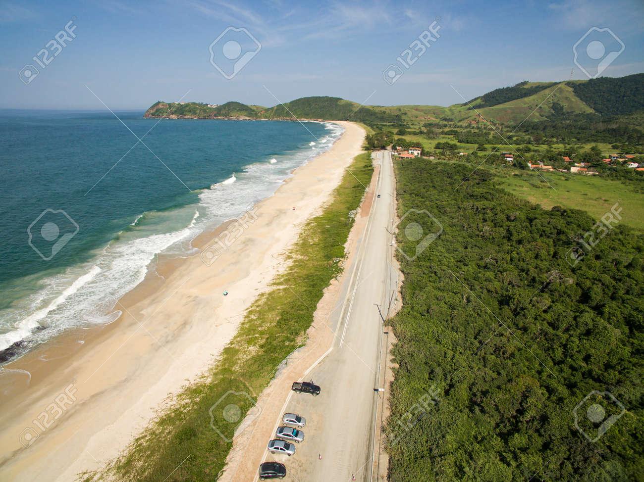 Deserted beach. Beautiful sunny coast view. - 169121463