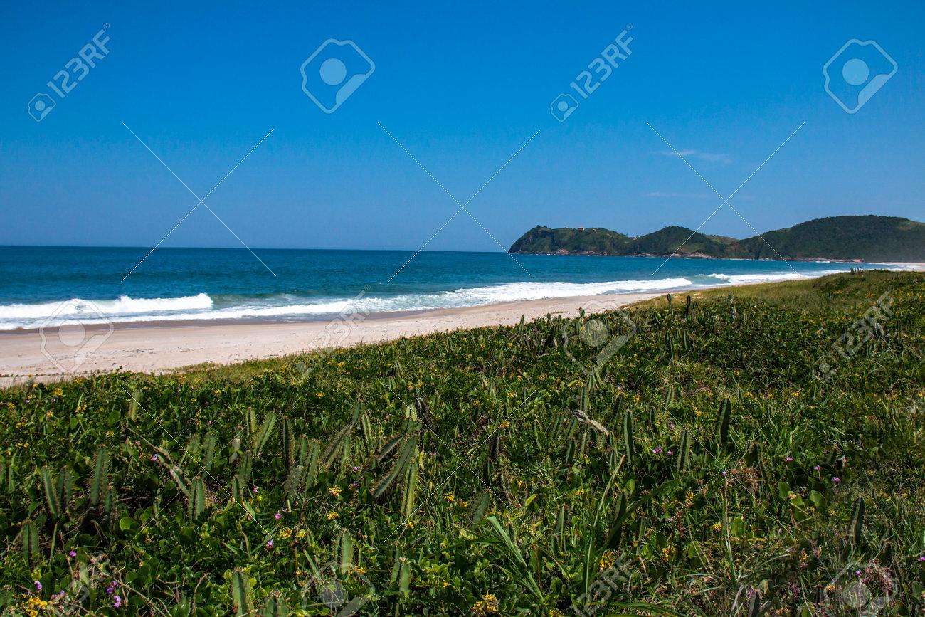 Beautiful beach in South America. Jaconé beach, Rio de Janeiro state, Brazil. - 170496038
