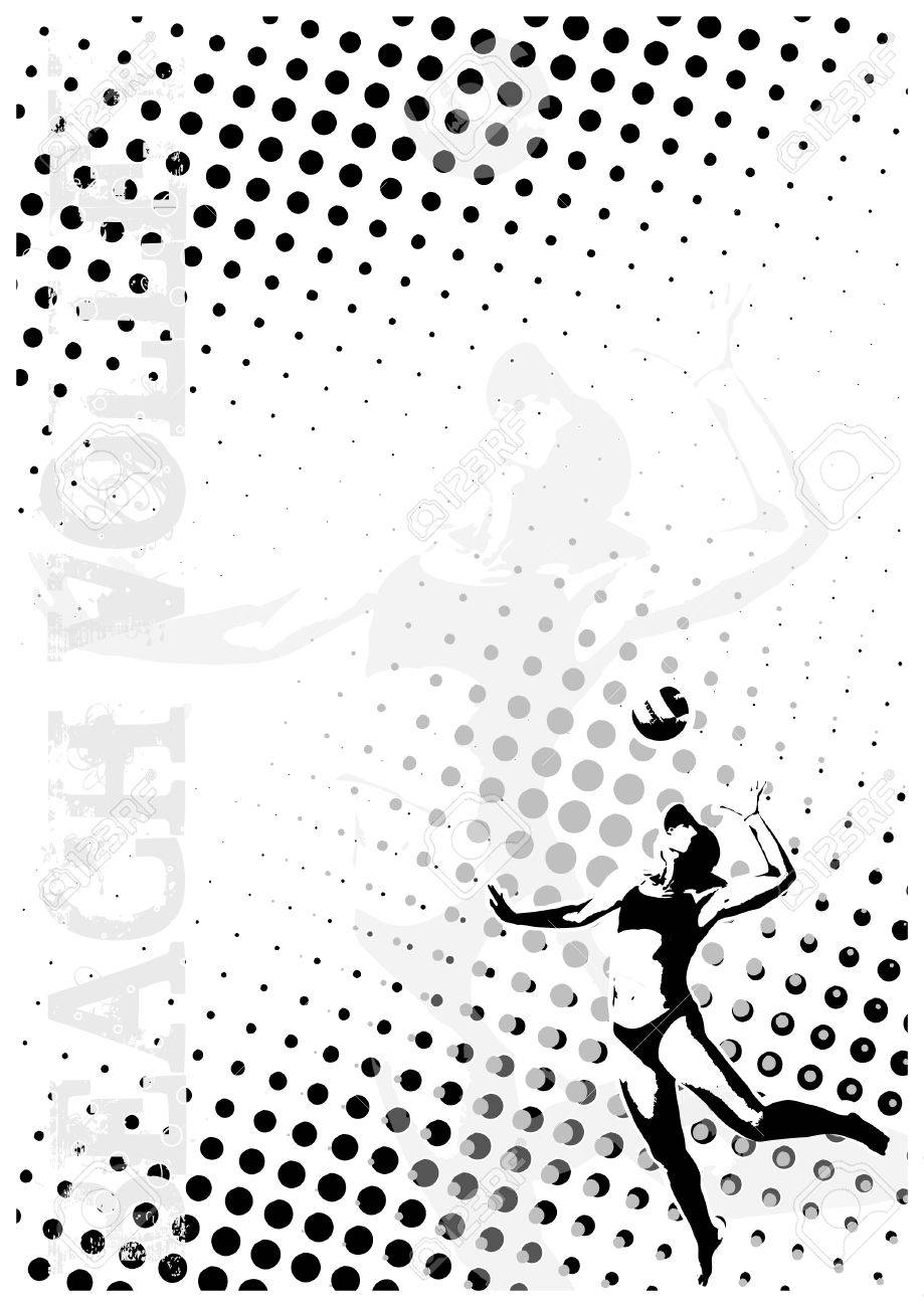 volleyball dots poster background Stock Vector - 6423626