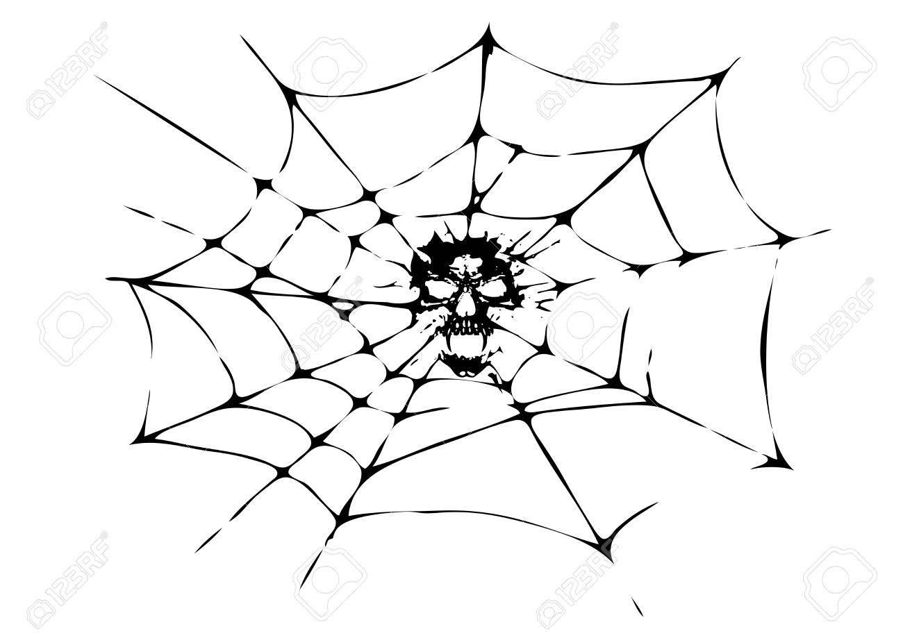 Death In The Cobweb Stock Vector - 6423646