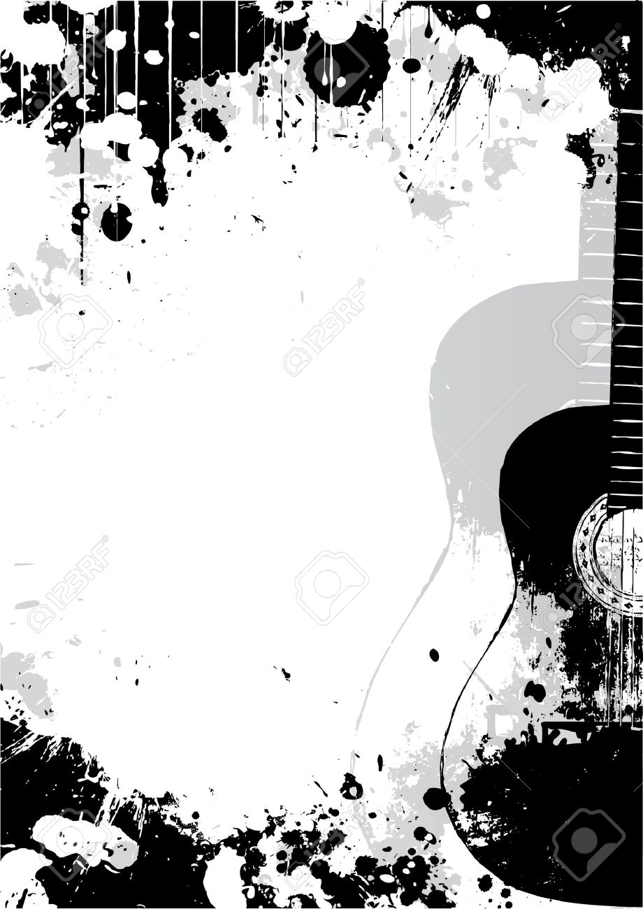 Classical Guitar Poster Background Royalty Free Cliparts Vectors
