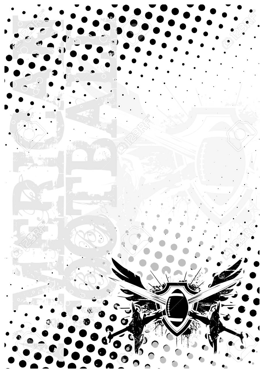 american football wings background Stock Vector - 6423725