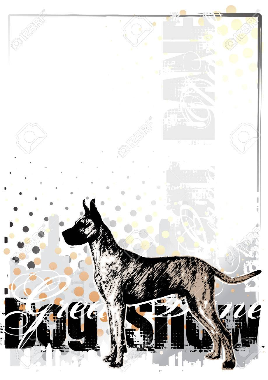 great dane background Stock Vector - 6694483