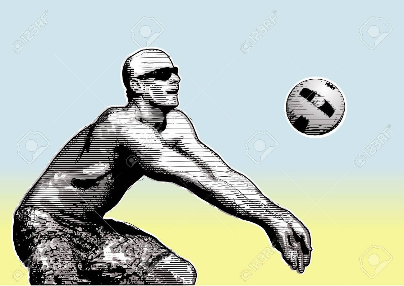 Beach Background Clipart Beach Volleyball Background 5