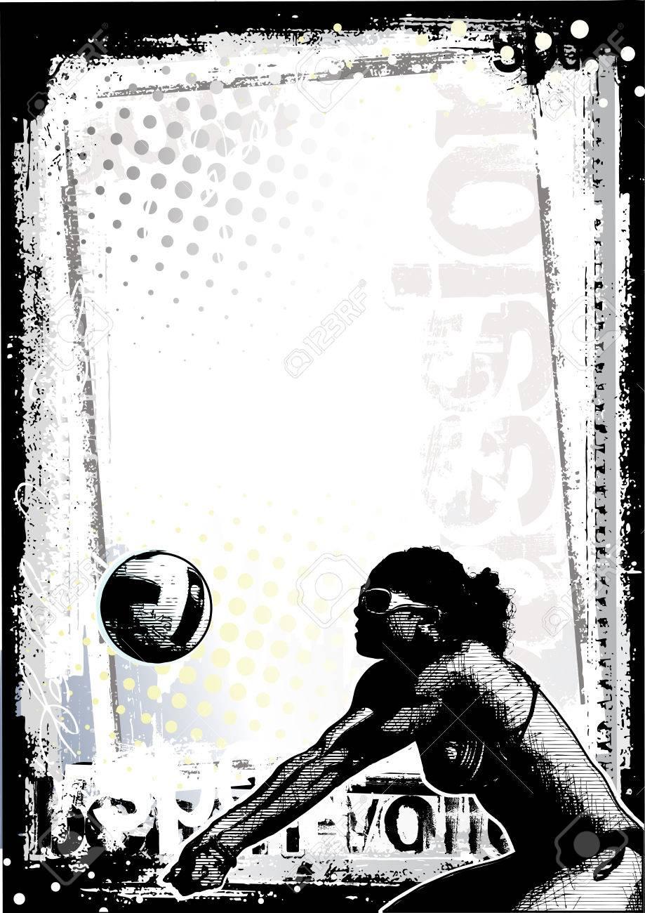 Beach Volleyball Poster Beach Volleyball Background 2