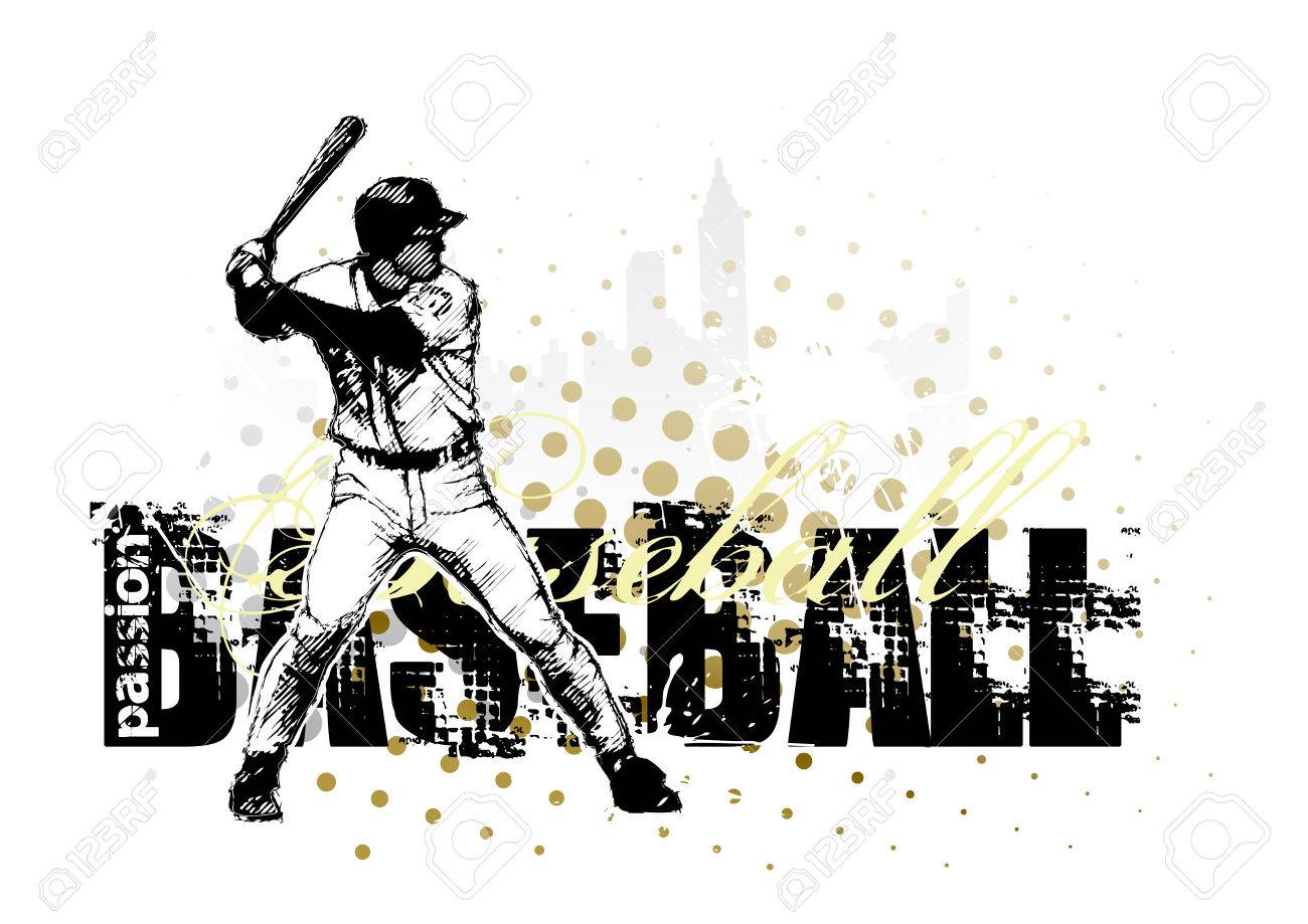 baseball background Stock Vector - 7402289