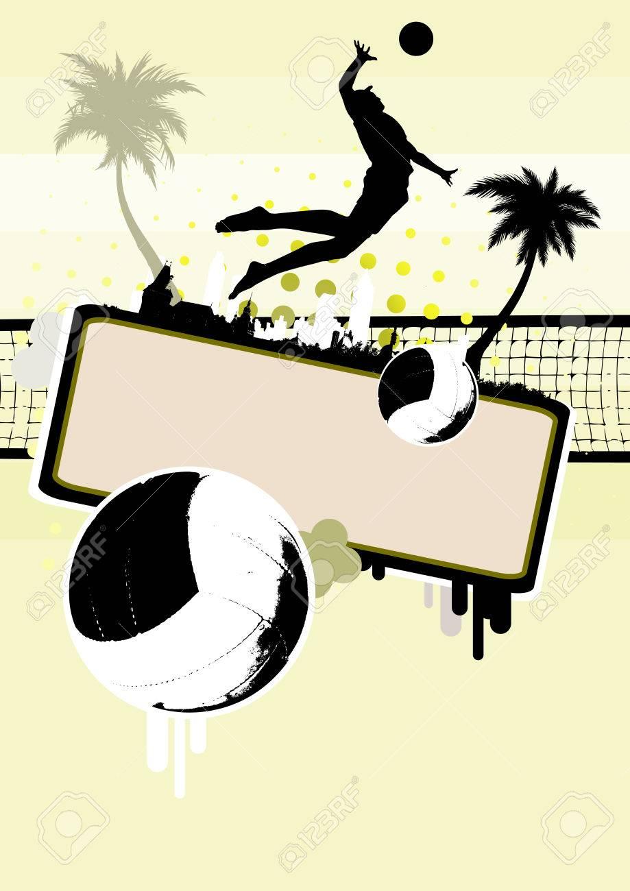 Beach Background Clipart Beach Volleyball Background