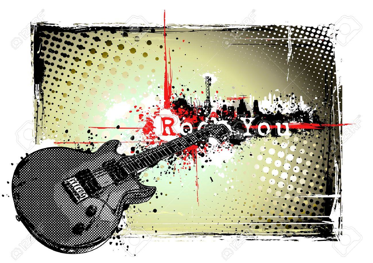 electric guitar frame Stock Vector - 8625231