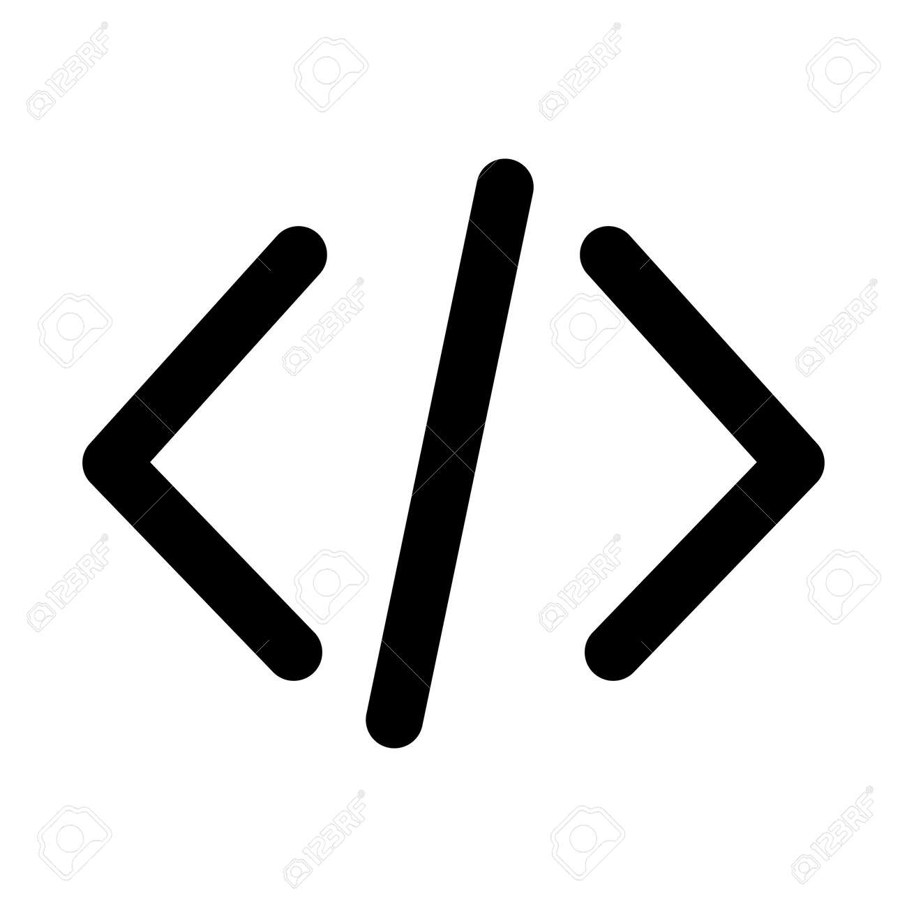 Html coding Bold outline Vector icon which can easily modify or edit - 151390467