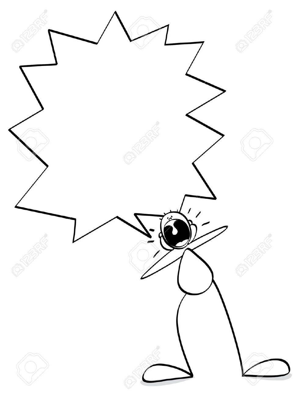 funny guy screaming Stock Vector - 21587376