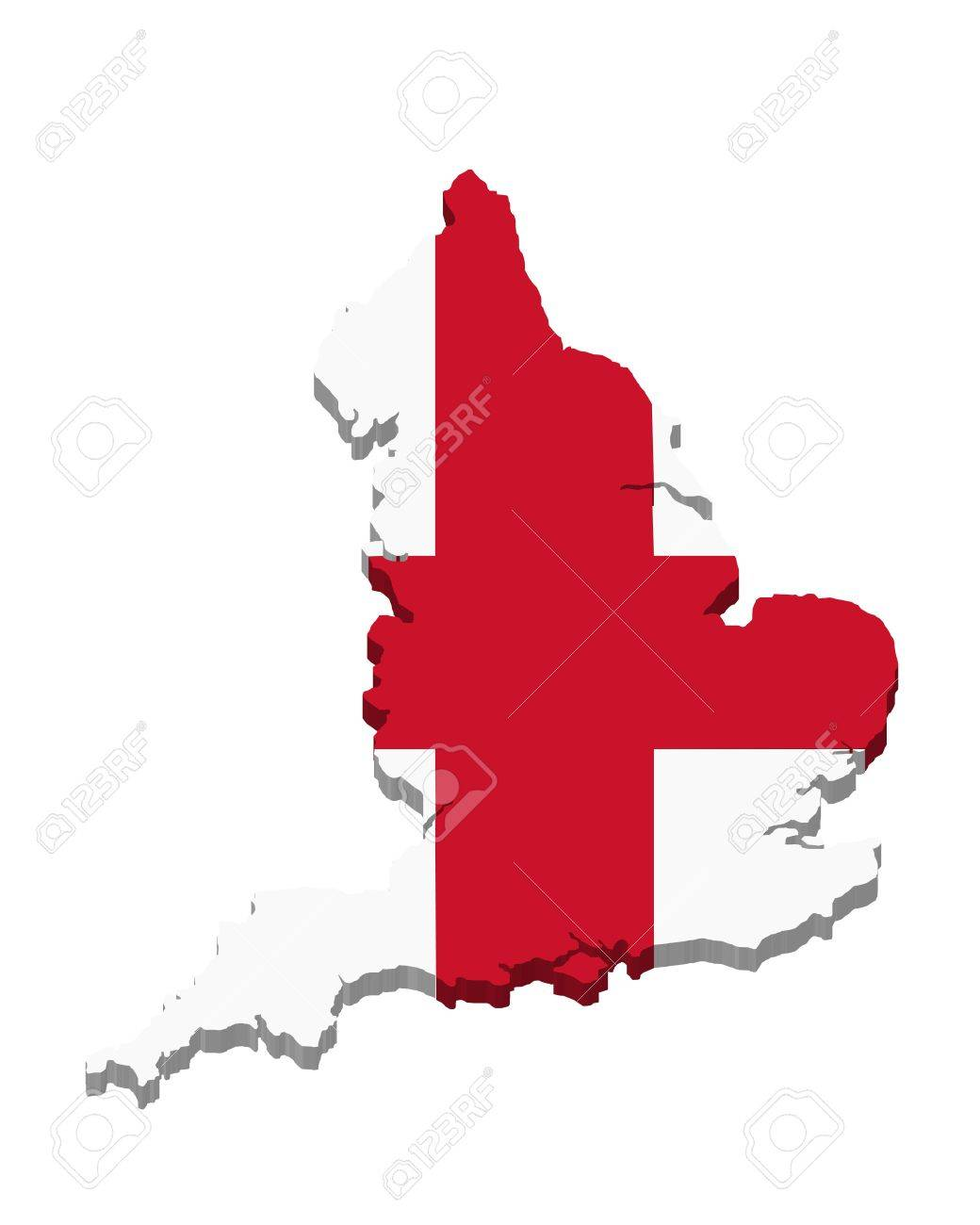 map and flag of england in 3d stock photo picture and royalty